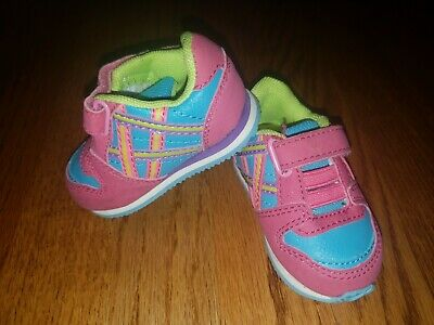 Baby Girls Genuine Kids Osh Kosh Size 2 Sneakers Colorful Shoes Toddler