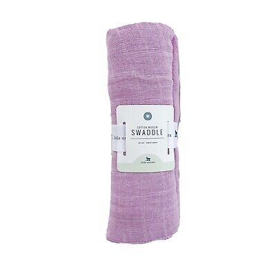 NWT Little Unicorn Cotton Muslin Swaddle Blanket Solid Pink Lilac