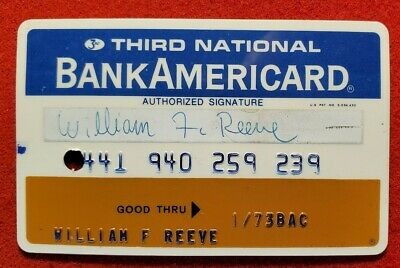 Third National Bank Americard exp 1973♡Free Shipping♡cc1442♡ canceled