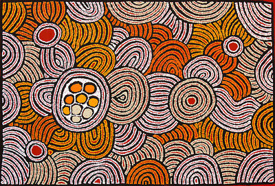 Fiona Young - My Country, Aboriginal Art, 89cm x 61cm, Acrylic on Linen