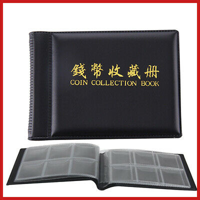 Collection 60 Holders Money Storage Penny Collecting Coin Album Pockets Book