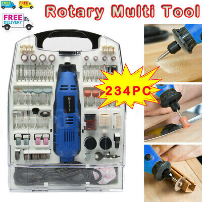 234Pce Dremel Type Mini Rotary Multi Tool Hobby Drill Tools Set Accessories 135W