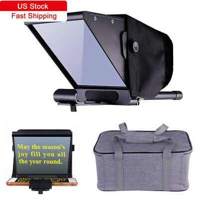 Teleprompter Beam Splitter for home Interview shooting/Live w/ Carry Case TR