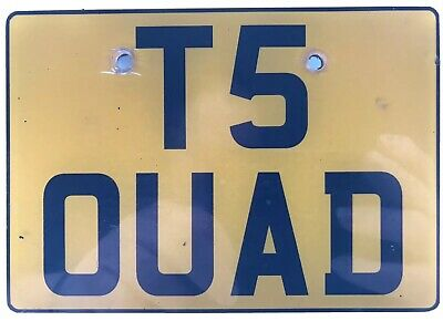 T5 Vw Transporter Number Plate T50 Uad No Fees Assign Free On Retention -T5 Quad