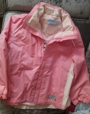 Girls REGATTA pink Coat 7-8 Y pack Away Hood