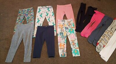 Girls clothes age 3-4 years bundle 6 NEXT Leggings & 6 pairs Tights 💜