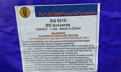 DC Universe 100 shot 500g cut off collectable Firework labels (salute)