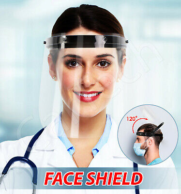 Face Shield Visor Protection Guard Cover Transparent Clear Plastic