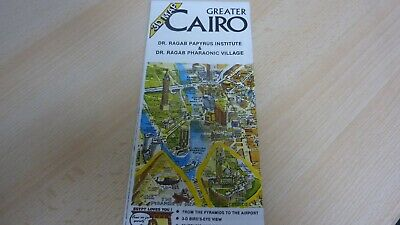 Old 3D Folding Map Of Greater Cairo