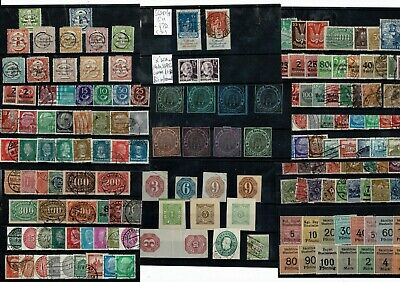 L064 Germany mostly used unsorted on 11cards Locals, Postal Stationery, etc.