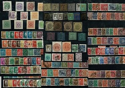 L065 Germany mostly used unsorted on 12cards Locals, Postal Stationery, etc.