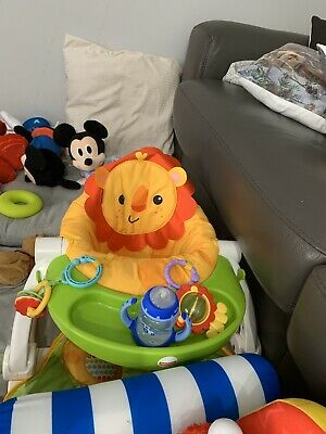 Fisher-Price Sit-Me-Up Lion Floor Seat W/Removable Tray