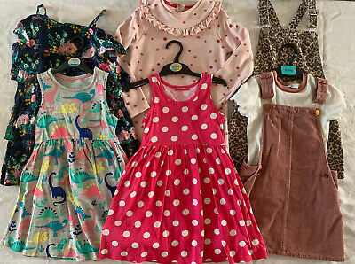 Girls Summer Dresses Bundle Age / Size 5-6 Dresses From Marks & Spencer And Next