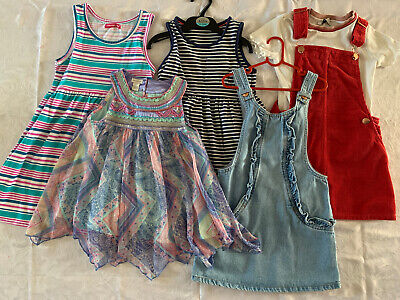 Girls Summer Dresses Bundle Age / Size 5-6 Monsoon, Next And Marks & Spencer's
