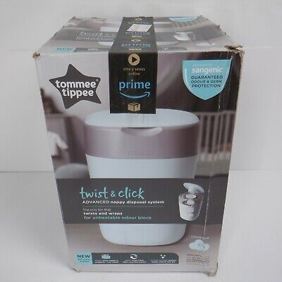 Tommee Tippee Twist and Click Advanced Nappy Disposal Sangenic Bin BLUE *NEW*