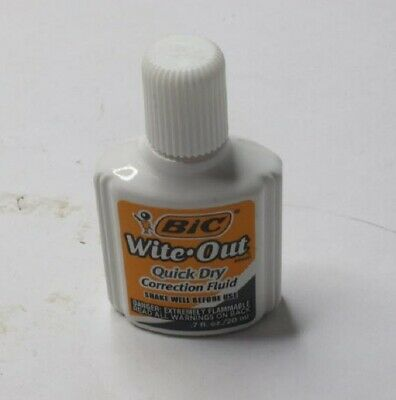 Qty 12 BIC Wite-Out Quick Dry Correction Fluid 20mL
