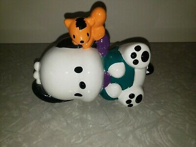 Vintage Sanrio 90s Pochacco Ceramic Figure Coin Bank Puppy Dog Piggy bank