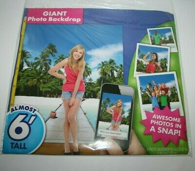 Photo Prop Photography Backdrop Palm Tree Boardwalk Beach Party Pic Banner Decor