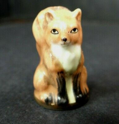 Franklin Mint Friends Of The Forest Fox Thimble 1982