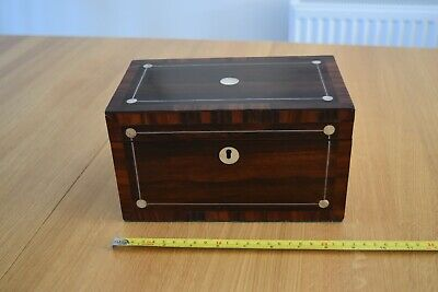 Antique tea caddy in rosewood, nice condition