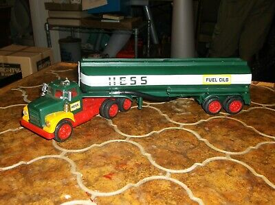 1972/74 Hess truck with working lights, box is a reproduction