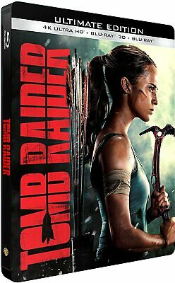 Tomb Raider Steelbook 4K Ultra Hd  Et 3D  Blu Ray  Neuf Sous Cellophane