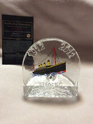 Titanic Piece Of Coal 1994 Expedition In Glass Display 1912-2012, Certificate