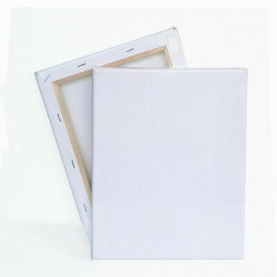 """10""""x8"""" Blank Artist Canvas Art Board Painting Stretched Framed White 100% Cotton"""