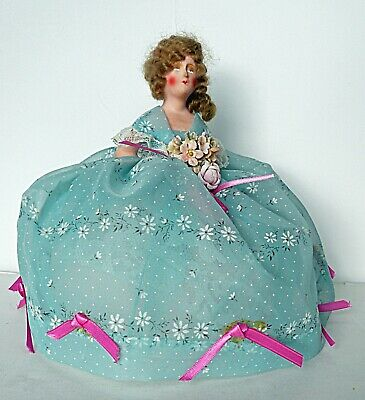 HALF DOLL PIN CUSHION Chalk Plaster