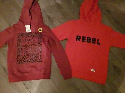 Two Girls Hoodies Age 9/10 BNWT .. ICON .. REBEL