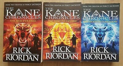 The Kane Chronicles by Rick Riordan Complete 3 Book Set. VGC