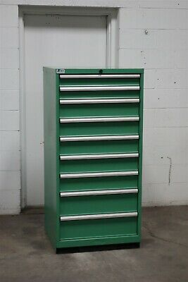 Used Lista 9 drawer cabinet industrial tool storage bin #2165 Vidmar