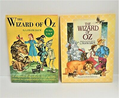 The Wizard Of Oz Lot of 2 Hardcover Books by L. Frank Baum