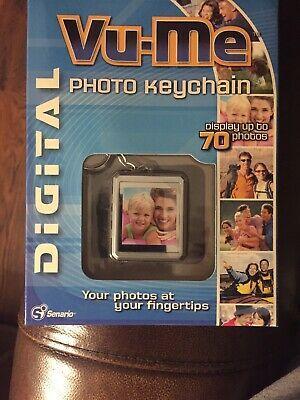 Vu-Me Digital Photo Key Chain Stores 70 Color Photos