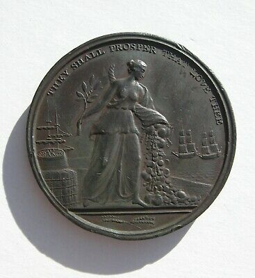 Britain and France Bronze medal Peace signing for the Peace of Amiens 1801