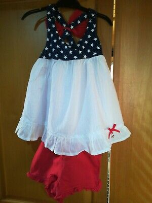 Dylan and Abby girls summer dress top and shorts set 4yrs 110cm NEW