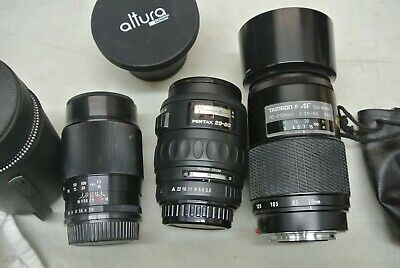 Mixed Lot of 4 Old Film Camera Lenses - All Different **
