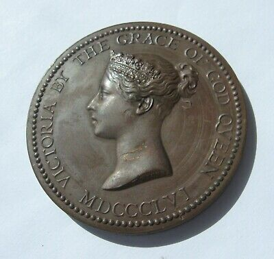 Queen Victoria National bronze Medal For Success in Art and science 1856 W Wyon