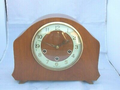 Rare 1950s Smiths 8Day Westminster Chime Mantle Clock By BARDERS & Co, London,