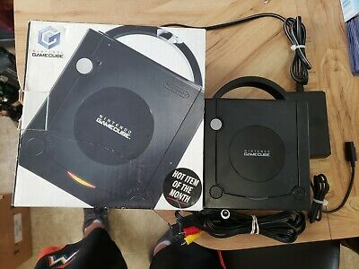Nintendo GameCube 40MG Console - Jet Black With Box. Free Shipping.