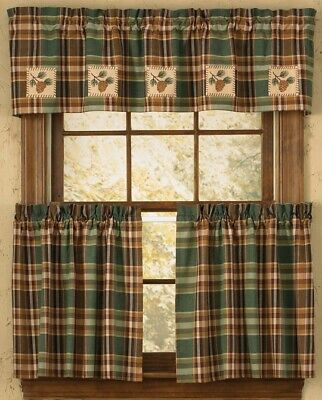 Pinecone Patch Lined Valance