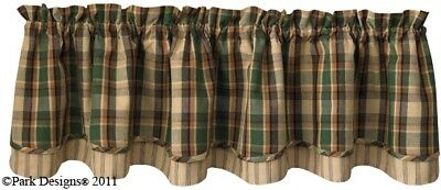 Scotch Pine Lined Layered Valance