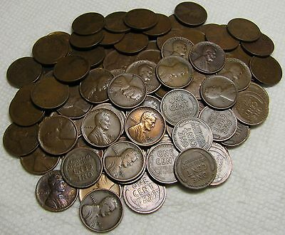2 Rolls Of 1911 P Philadelphia Lincoln Wheat Cents From Penny Collection