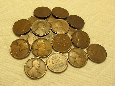 1/2 Roll Of 1913 D Denver Lincoln Wheat Cents From Penny Collection