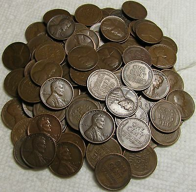 2 Rolls Of 1919 D Denver Lincoln Wheat Cents From Penny Collection
