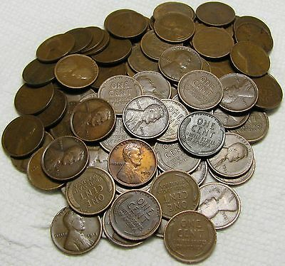 2 Rolls Of 1913 P Philadelphia Lincoln Wheat Cents From Penny Collection