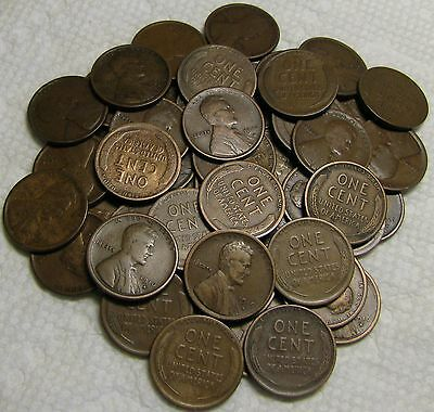 1 Roll Of 1916 S San Francisco Lincoln Wheat Cents From Penny Collection