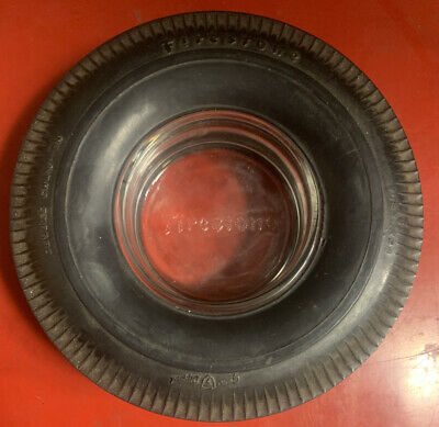 Vintage Firestone Deluxe Champion Gum Dipped Tire Ashtray - USED