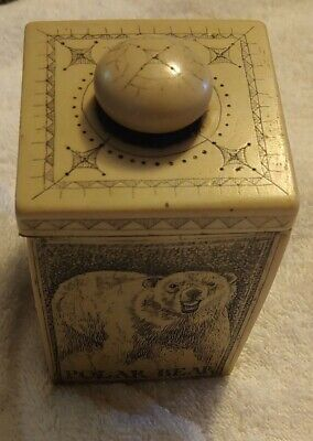 Vintage Faux Scrimshaw Nautical Journey Gurt Antique 1878 Reproduction w/Lid