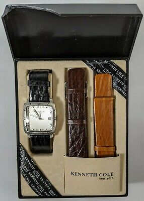 Kenneth Cole New York Square Faced Wrist Watch KC5104 Additional Bands